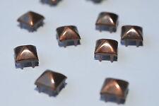 100x Pyramids Studs Claw Rivets, 9.3 x 9.3 mm, Colonial Copper, USA