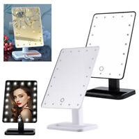 20LED Kosmetikspiegel Schminkspiegel Standspiegel mit Touch-Schalter drehbar NEU