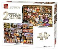1000 Piece Jigsaw Puzzles 2:1 Set Dolls,Cats & Street Art Gallery Gift 05215