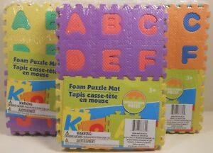 Puzzle Mat ALPHABET & NUMBERS Foam Educational Learning 36 Pieces