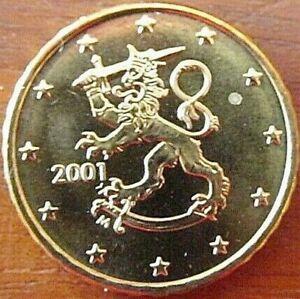 ►RARE PIECE ORIGINAL 10 CENT FINLANDE ANNEE 2001 CENTIMES UNC ROLL 100% NEUVE !◄