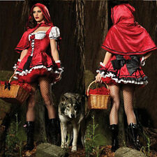 NEW Sexy Little Red Riding Hood Adult Fancy Cosplay Dress Party Carnival Costume