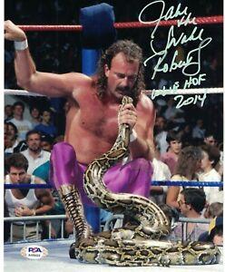PSA/DNA Authentic Jake The Snake Roberts Autograph 8x10 Photo w/ HOF Inscription