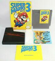Super Mario Bros 3 NES Nintendo Complete CIB Authentic Very Good Condition NICE!