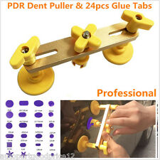 Autos Paintless Tool Kit Bridge Dent Puller Remover Glue Tabs Hand Tool Set