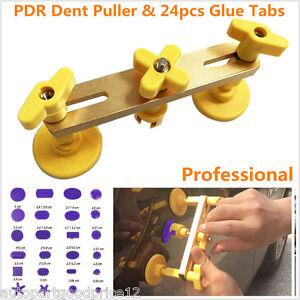 Autos Paintless Tool Kit Bridge Dent Puller Remover Glue Tabs Hand Tool Set