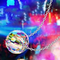 Gorgeous Aurora Borealis Glass Bead Necklace