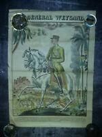 """Affiche couleur - imagerie """"le journal"""" 1940 -gvt VICHY Général WEYGAND -42x39cm"""