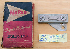 New Old Stock MOPAR brand 59 PLYMOUTH Ballast Resistor 1842522 New in Box OEM