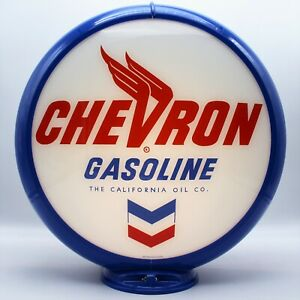 """CHEVRON GASOLINE Gas Pump Globe -  13.5"""" - SHIPS ASSEMBLED! READY FOR YOUR PUMP!"""