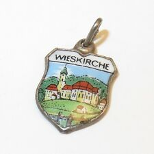 VINTAGE Silver WIESKIRCHE Travel Shield CHARM Germany Church of Wies VT44H