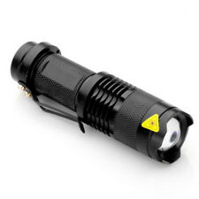 Mini Linterna LED 7W 300LM Flashlight con Zoom Impermeable Caza Pesca