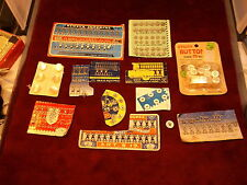 LOT OF OLD VINTAGE UNUSED SEWING GOODS, NEWEY'S IMPERIAL, HOOKS & EYES, BUTTONS+