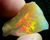 Ethiopian Opal Welo Rough ~VIDEO 16.02 CTs AAA FIRE Cutting Grade USA DEALER