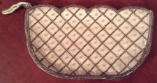 Small Vintage  Clutch/evening  bag with Faux Pearls & Bead Work
