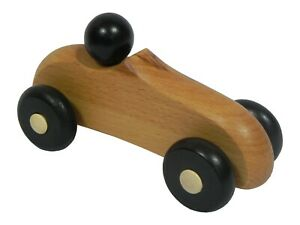 Big Wooden Car Eco Toy Natural Cars Vehicles kids Christmas Gift 19cm black head