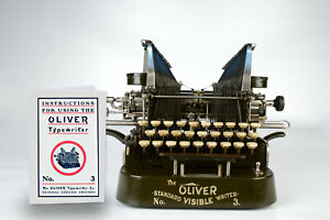 Manual for Oliver 3 Typewriter - Faithful Reproduction, High Quality