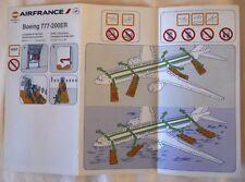 CONSIGNE DE SECURITE BOEING 777-200 ER / COMPAGNIE AERIENNE AIR FRANCE / 2014