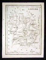 1833 Perrot Tardieu Map - Lozere - Mende Florac France Province - Miniature Map