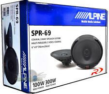 "ALPINE SPR-69 6X9"" 2-WAY CAR AUDIO TYPE-R SERIES NEW COAXIAL CAR SPEAKERS SPR69"