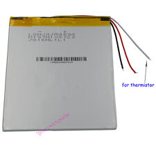 3.7V 5000mAh Polymer Li Battery 3 wires for thermistor For GPS Tablet PC 4594105