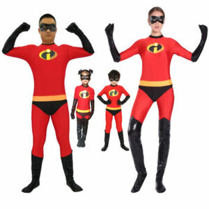 UK The Incredibles Family Costume Matching Cosplay Elastigirl Violet Parr suit A