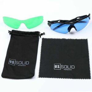 U.S. Solid Grow Room Glasses Hydroponics 2 Sets of Lenses for HID&LED Lighting