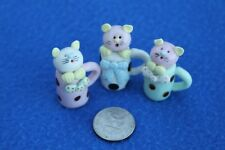 Collectibles Kitties Handmade Miniatures Animals Figurines 3 Cats inside :D Cups
