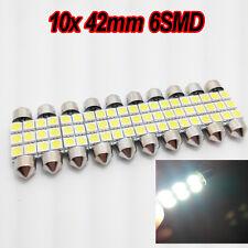 10x 41MM 42MM NUMBER PLATE INTERIOR LIGHT FESTOON BULB 6 LED XENON WHITE c5w 264