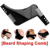 Men Beard Shaping Tool Styling Template Mustache Comb Barber Line Accessories