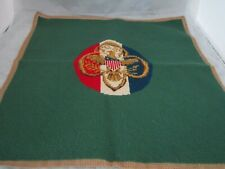 """Girl Scout Symbol Large Needlepoint Completed 18.5"""" x 18.5"""""""
