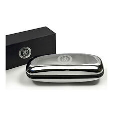 CHELSEA FC CHROME PLATED GLASSES CASE HARD COVER SPECTACLE  NEW XMAS GIFT