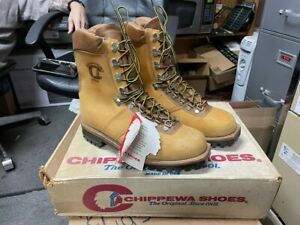 100% AUTHENTIC VINTAGE CHIPPEWA 25468 SIZE 10.5 E NEW IN BOX MADE IN USA NOS
