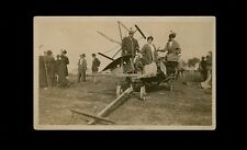 1910s photo postcard - Farm Reaper or Agricultural Fair with women on equipment
