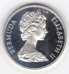 Very  Sharp  Bermuda  1972   Large   Crown  -  Silver  (92.5%)  Coin