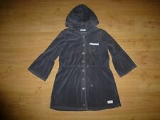 Odd Molly 892 Lacy Grey ¾ Sleeve Button Up Hooded Velvet Dress Size 3 – L