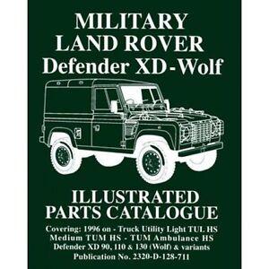 Catálogo de Piezas Repuesto / Parte Militar Land Rover Defender Xd -Wolf