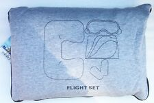 KINGSLEY, Flight Travel Set - 4 pc. Flannel Blanket, Sleep Mask & Pillow,  TC-76