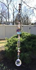 Healing Gemstone Hematite Purple Swarovski Element Suncatcher W/Crystal Ball USA