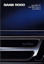 Prospekt Saab 9000 CD Turbo 16 i16 1988 brochure Auto Broschüre Autoprospekt