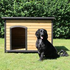 Hundehütte M, L, XL aus Holz, Hunde Haus für Außen / Innen mit Wasserfestem Dach
