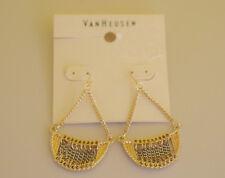 Van Heusen gold and silver color drop earrings