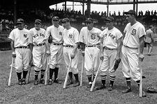 New 5x7 Photo: Baseball Sports Greats Lou Gehrig, Joe DiMaggio & Others