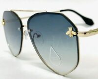 Fashion Moth bug Metal Gold Aviator Women's Men's Bee Style Shades Sunglasses