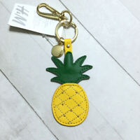 Pineapple Key Ring Chain Fob H&M Studded Faux Leather Tropical Fruit Summer