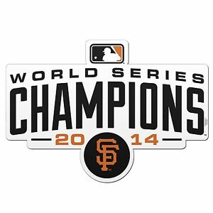 "San Francisco Giants 2014 WORLD SERIES CHAMPIONS 6"" Magnet"