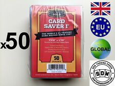 More details for new x 50 cardboard gold card saver i 1 psa grading submission plastic semi rigid