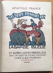 MORNAY 1925 A.FRANCE + SYLVAIN SAUVAGE : BARBE BLEUE reliure Semet & Plumelle