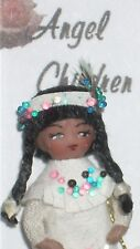 Doll Wee Indian Angel Children 1:12 Doll's Doll #951 Miniature Native American