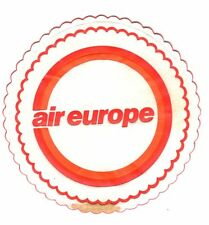AIR EUROPE AIRLINE CUP MAT COASTER